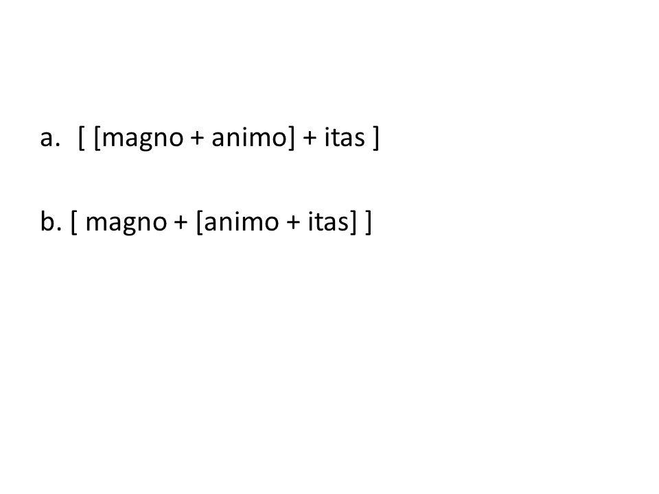 [ [magno + animo] + itas ]
